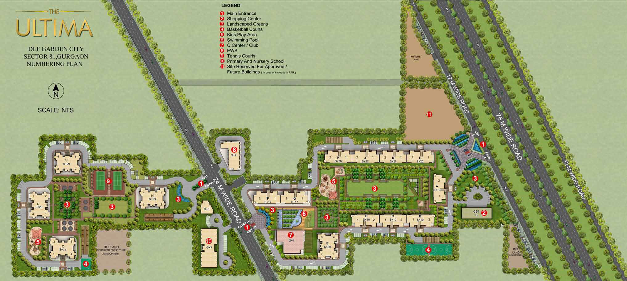 Master Plan of DLF The Ultima Gurgaon
